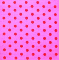 PET BED - STENZO RED POLKA DOTS ON FUSCIA PINK